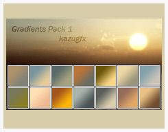 Photoshop Gradients by kazugfx @ deviantart