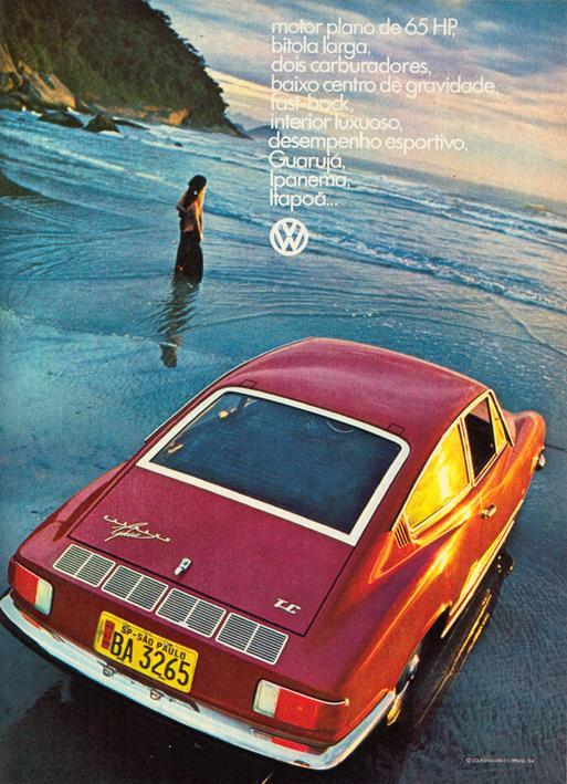 Karmann Ghia TC. Motor plano de 65 HP, bitola larga, dois carburadores, baixo centro de gravidade, fast-back, interior luxuoso, desempenho esportivo, Guarujá, Ipanema, Itapoã...