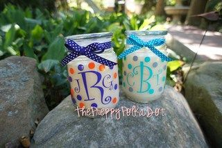 Personalized Monogram Vanilla Jar Candle