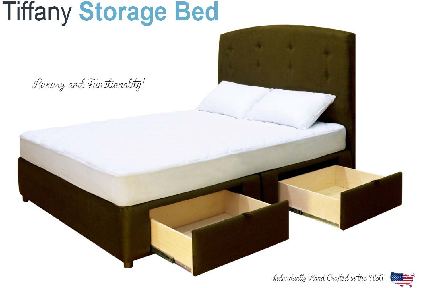 king platform bed with storage drawers uphostered storage bed frame microfiber ebay