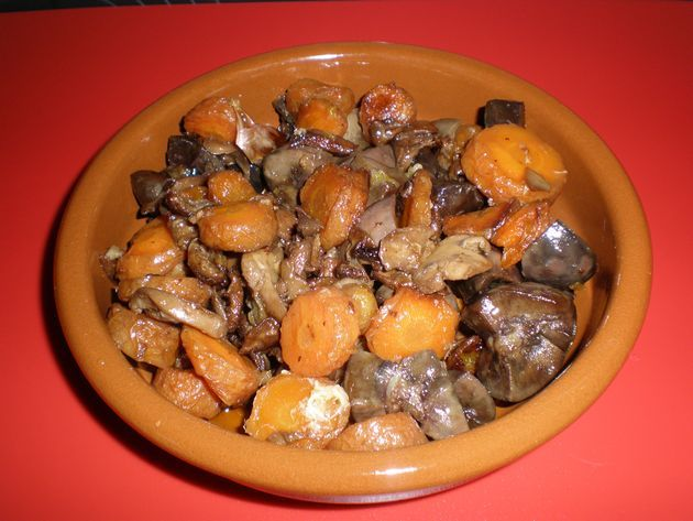 Riñones de cerdo con zanahorias