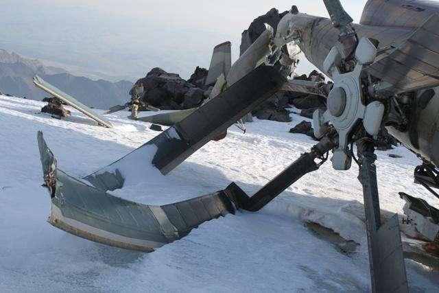 Helicoptr estrellado Mi-8
