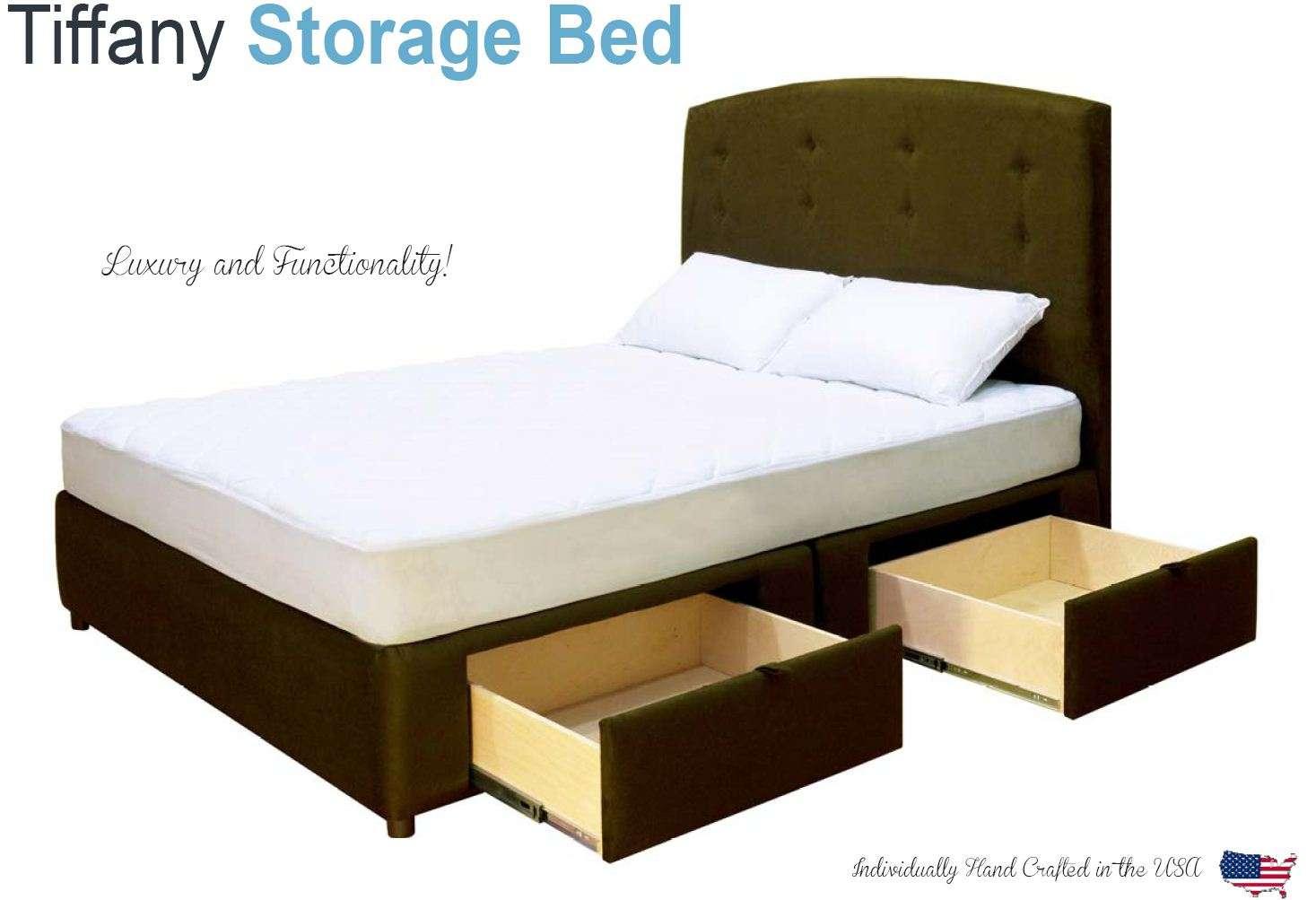 Queen Platform Bed With Storage Drawers Uphostered Storage