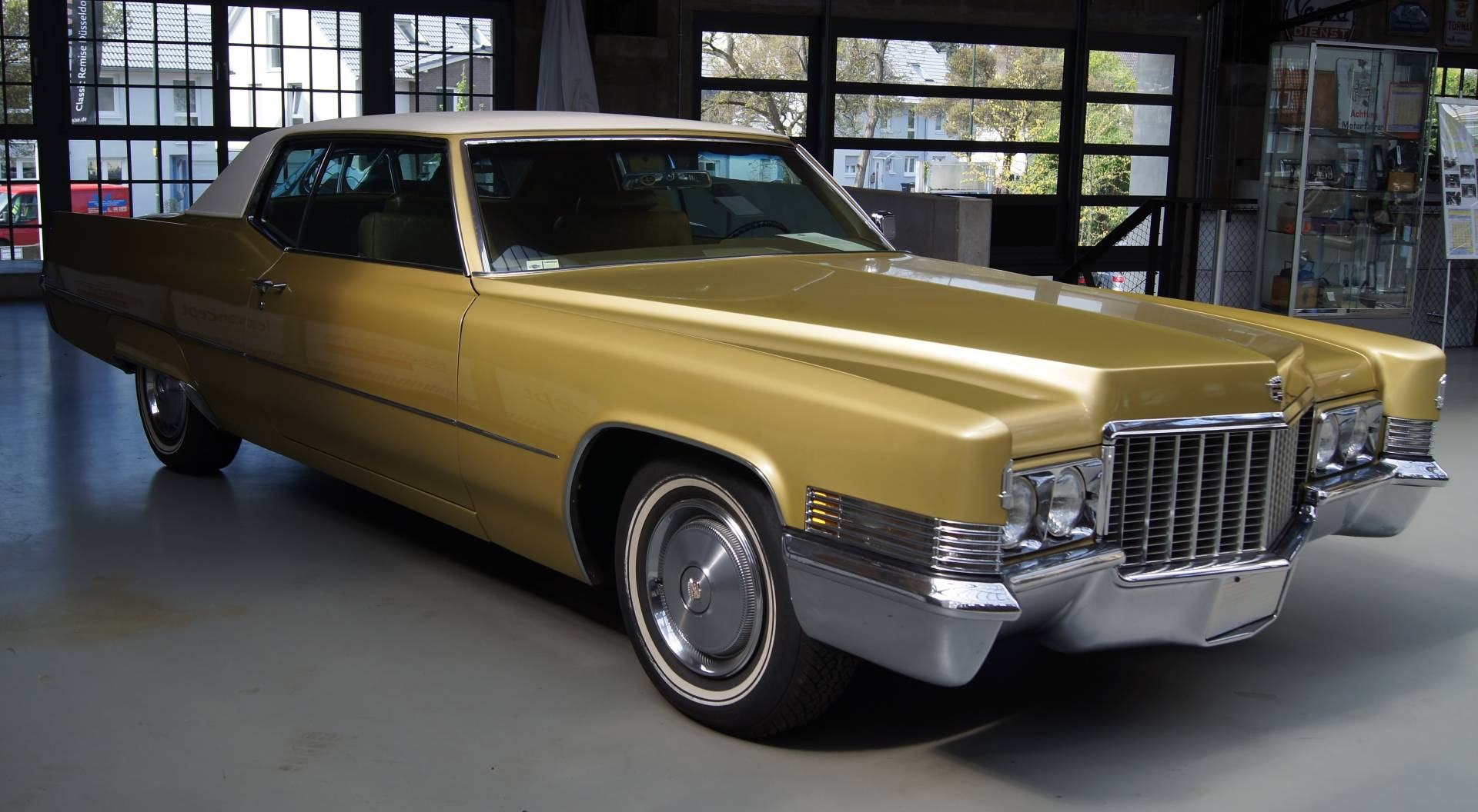 The gold cadillac
